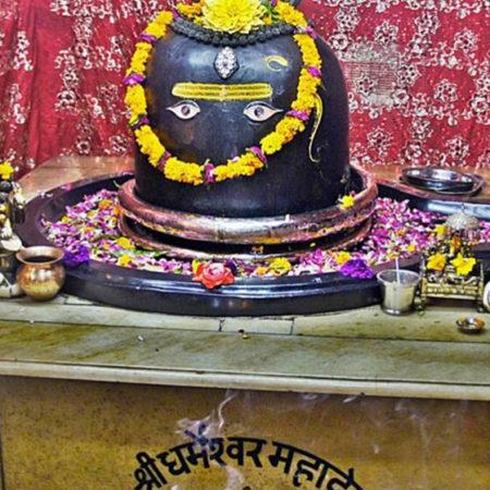 Puja at Dharmeshwar Temple